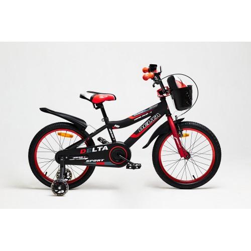 Велосипед Delta Sport 16 (черный/красный, 2020)