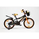 Велосипед Delta Sport 18 (черный/оранжевый, 2020)