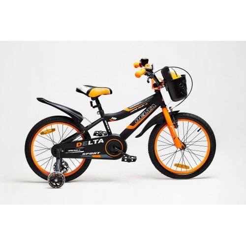 Велосипед Delta Sport 16 (черный/оранжевый, 2020)
