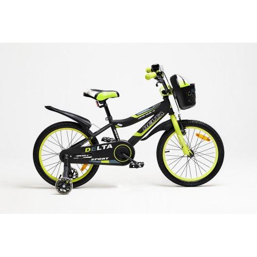 Велосипед Delta Sport 16 (черный/зеленый, 2020)