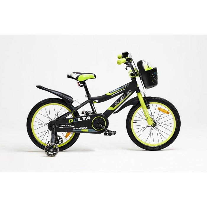 """Велосипед Delta Sport 16"""" (черный/зеленый, 2020) купить в Минске"""