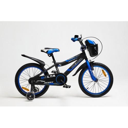 Велосипед Delta Sport 16 (черный/синий, 2020)