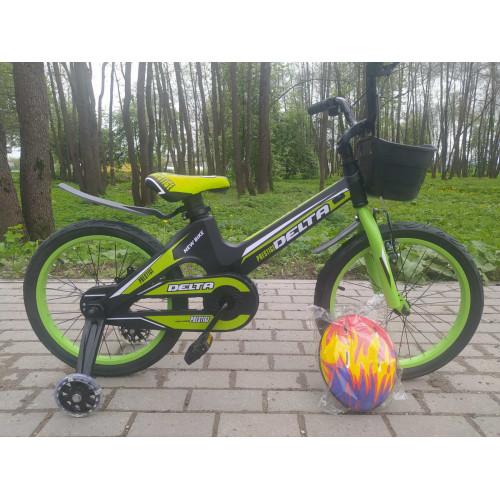 Детский велосипед Delta Prestige 16 (зеленый, 2020) облегченный