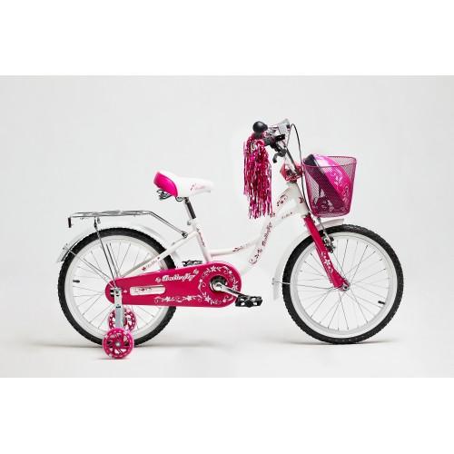 "Велосипед Delta Butterfly 16"" (белый/розовый, 2019)"