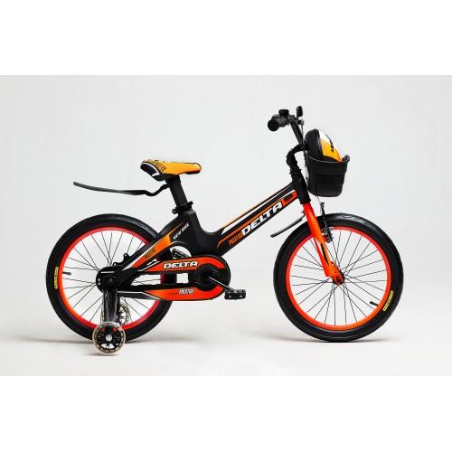 Детский велосипед Delta Prestige 18 (оранжевый, 2020) облегченный