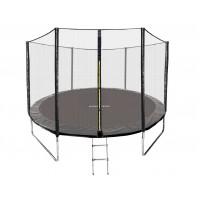 Батут GetActive Jump 10 ft-312 см с лестницей и внешней сеткой (черный) купить в Минске