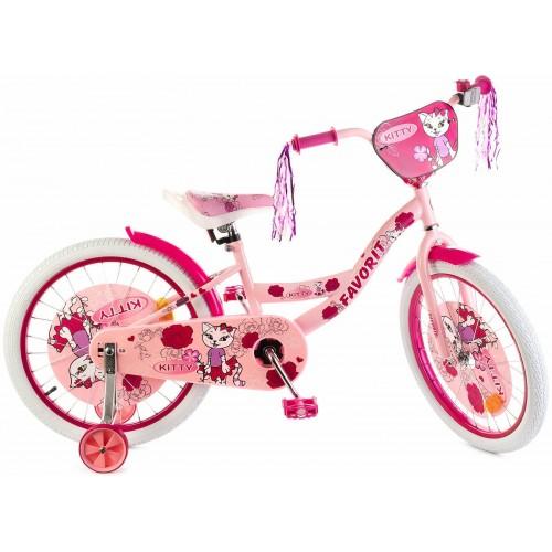 """Велосипед Favorit Kitty 18"""" (розовый, 2020)"""