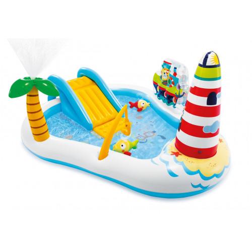 Детский надувной игровой центр Intex 57162 Веселая рыбалка 218х188х99 см