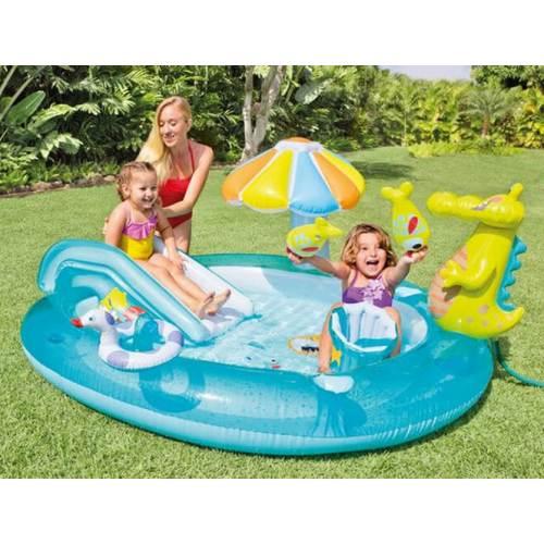 57165NP Детский надувной центр-бассейн Intex Крокодильчик