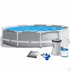 26712 Каркасный бассейн Intex PRISM FRAME 366x76 см +фильтр-насос 2006 л/ч