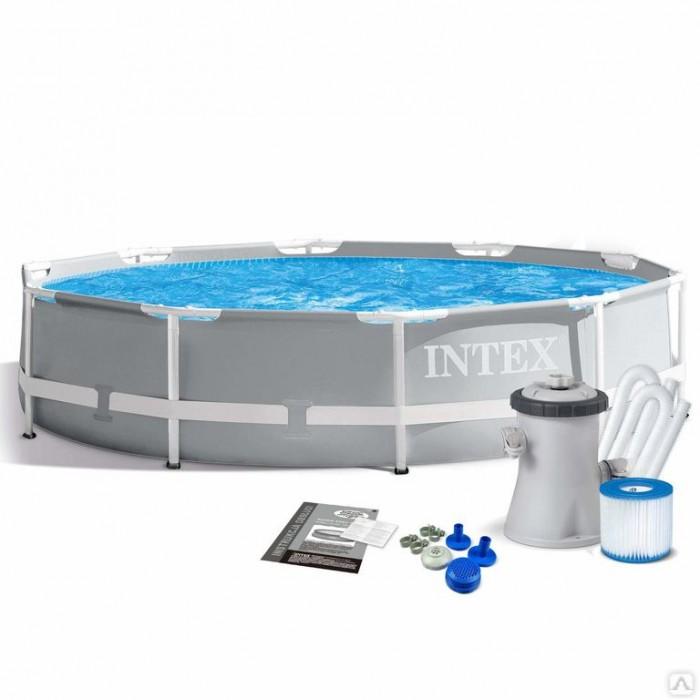 26702 Каркасный бассейн Prism Frame 305x76см, 4485л, фильтр-насос 1250л/ч, Intex купить в Минске
