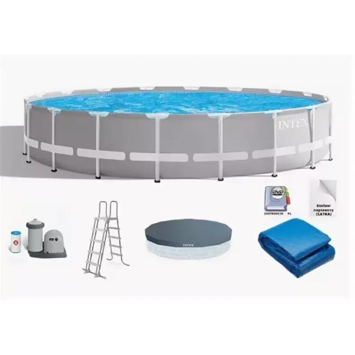 26756 Каркасный бассейн Intex PRISM FRAME 610x132см +фильтр-насос 5678 л/ч купить в Минске