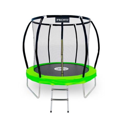 Батут ProFit GreenLine 252 см - 8 ft с защитной сеткой и лестницей