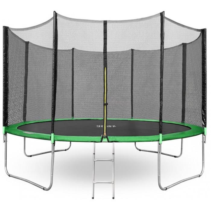 Батут Happy Jump 12ft (374см) с внешней сеткой и лестницей