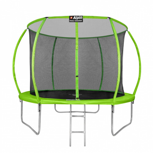 Батут ALPIN SKY 374 см - 12ft с защитной сеткой и лестницей