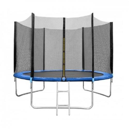 Батут Neo Sport 8ft (252 см) с внешней сеткой и лестницей
