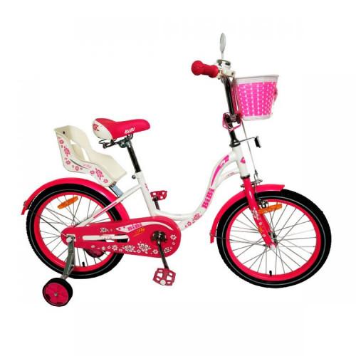 Детский велосипед Bibi Fly 18 (2021, белый/розовый)