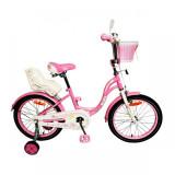 Детский велосипед Bibi Fly 18 (белый/розовый, 2021)