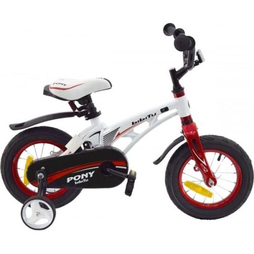 Детский велосипед Bibitu Pony 18 (белый, 2021)