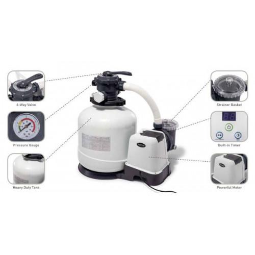 26652 Песочный фильтр-насос Intex KRYSTAL CLEAR® 12000 л/ч