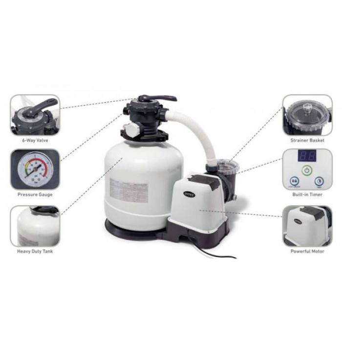 26652 Песочный фильтр-насос Intex KRYSTAL CLEAR® 12000 л/ч купить в Минске