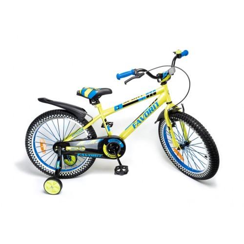 """Детский велосипед Favorit Sport 16"""" (лайм, 2019)"""