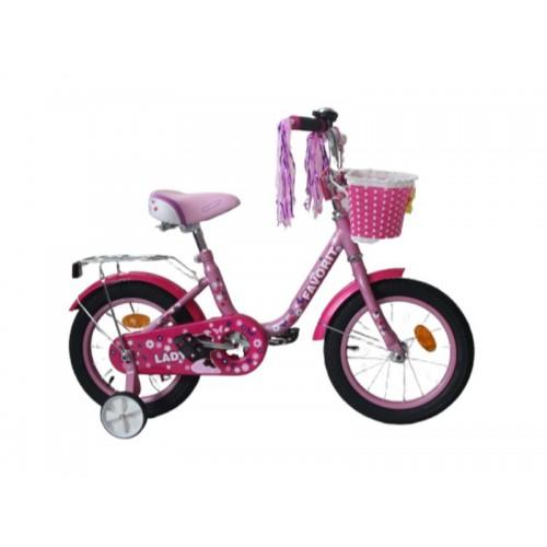 """Велосипед Favorit Lady 14"""" (розовый/фиолетовый, 2019)"""