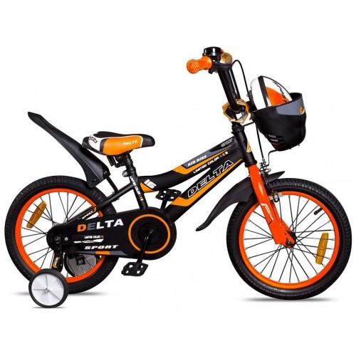 """Велосипед Delta Sport 18"""" (черный/оранжевый, 2020)"""