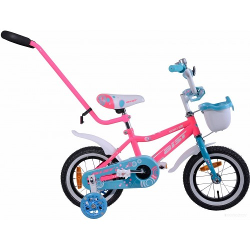 "Велосипед Aist Wiki 12"" (розовый/бирюзовый, 2019)"
