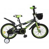 """Велосипед Delta Sport 16"""" (черный/зеленый, 2020)"""