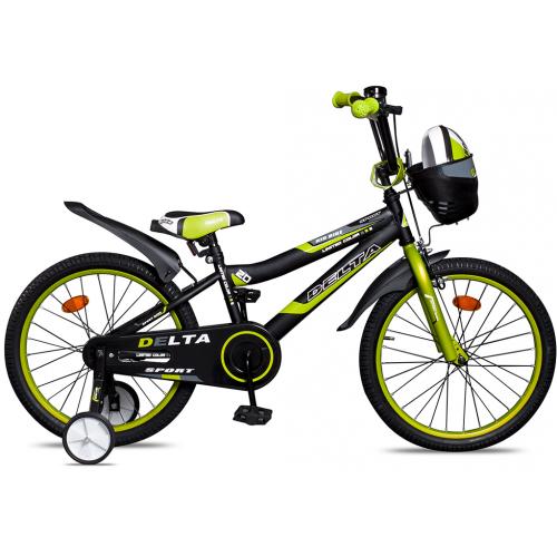 """Велосипед Delta Sport 20"""" (черный/зеленый, 2020)"""