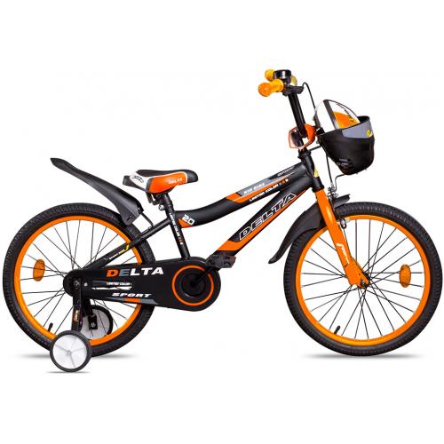 """Велосипед Delta Sport 20"""" (черный/оранжевый, 2020)"""