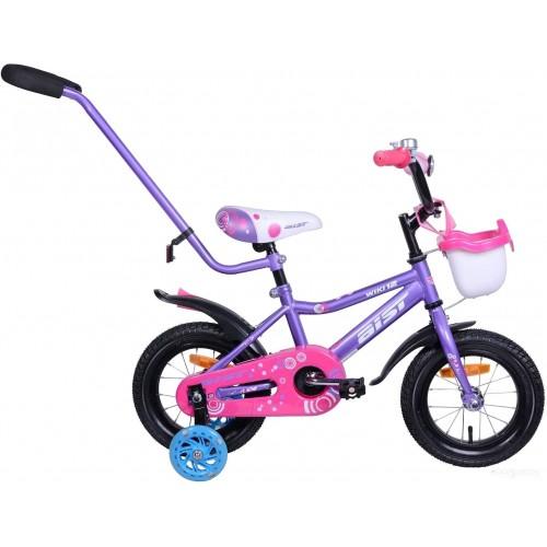 """Велосипед Aist Wiki 12"""" (фиолетовый/розовый, 2020)"""