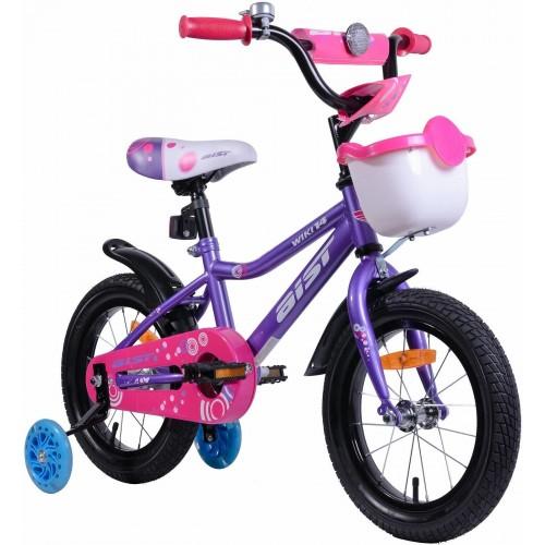 Велосипед Aist Wiki 14 (фиолетовый/розовый, 2019)