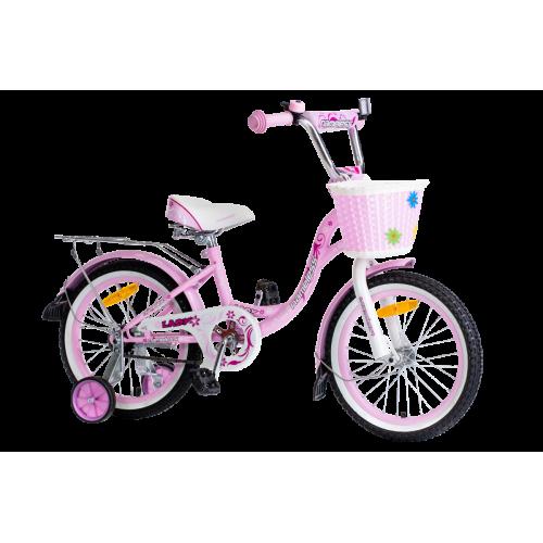 Детский велосипед Nameless Lady 18 (2021, розовый/белый)