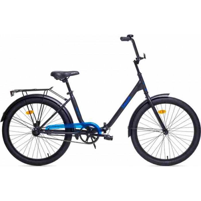"""Велосипед Aist Smart 1.1 24"""" (черный/голубой, 2019) купить в Минске"""