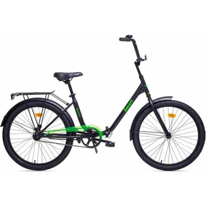 """Велосипед Aist Smart 1.1 24"""" (черный/салатовый, 2019) купить в Минске"""