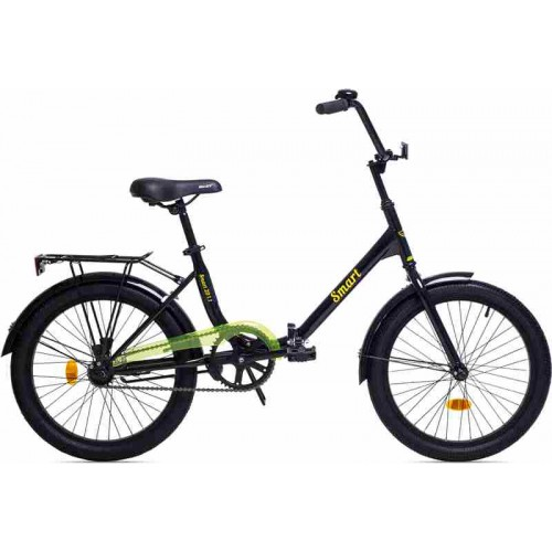 """Велосипед Aist Smart 1.1 20"""" (черный/желтый, 2019)"""