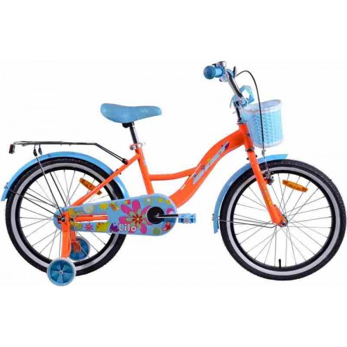 "Велосипед Aist Lilo 20"" (оранжевый/голубой, 2019)"