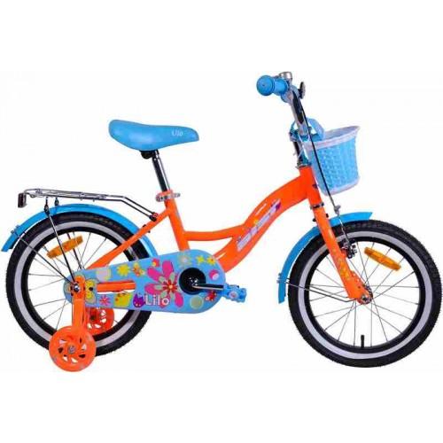 "Велосипед Aist Lilo 16"" (оранжевый/голубой, 2019)"