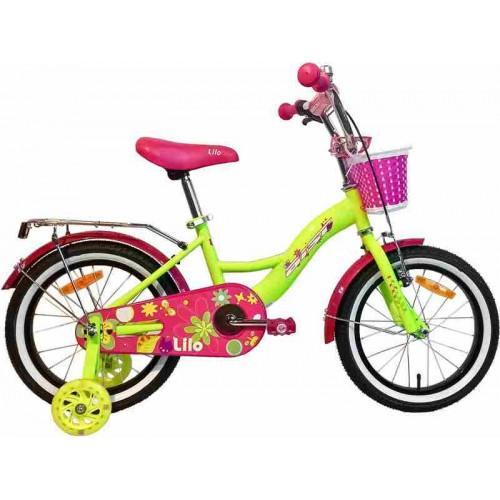 """Велосипед Aist Lilo 16"""" (лимонный/розовый, 2019)"""