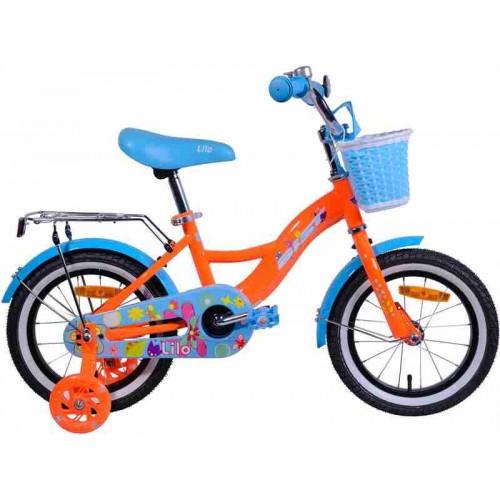 "Велосипед Aist Lilo 14"" (оранжевый/голубой, 2019)"