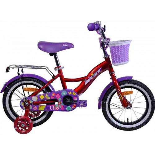 """Велосипед Aist Lilo 14"""" (бордовый/фиолетовый, 2019)"""