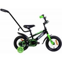 """Велосипед Aist Pluto 12"""" (черный/зеленый, 2019)"""