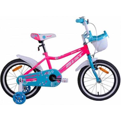 "Велосипед Aist Wiki 16"" (розовый/бирюзовый, 2019)"
