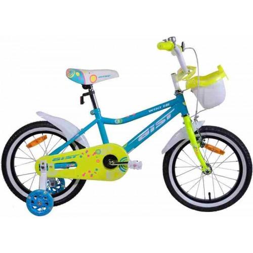 """Велосипед Aist Wiki 16"""" (бирюзовый/салатовый, 2019)"""