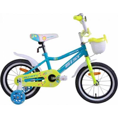 """Велосипед Aist Wiki 14"""" (бирюзовый/салатовый, 2019)"""