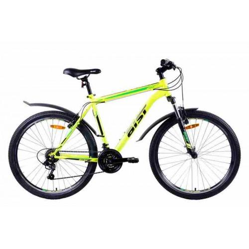 "Велосипед Aist Quest 26"" (желто-зеленый, 2019)"