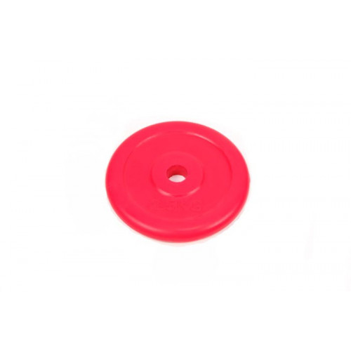 Диск обрезиненный 2,5 кг Atlas Sport металлическая основа (посад. диаметр 26 мм)