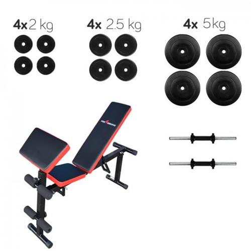Набор LUX скамья ATLASSPORT AS-03 PRO и гантели 40 кг